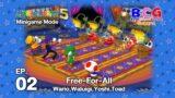Mario Party 5 SS2 Minigame Mode EP 02 – Free for All Wario,Waluigi,Yoshi,Toad