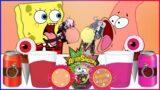 SPONGEBOB x PATRICK vs FRIDAY NIGHT FUNKIN MUKBANG – RED FOOD vs PINK FOOD MUKBANG FOR DINNER