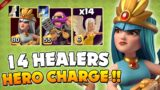 THIS player BROKE clash with 14 healer insane attack