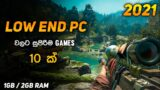 Top 10 Video Games For Low End Pc   1Gb & 2Gb RAM   Sinhala
