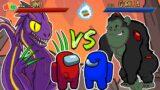 Among Us Dinosaur vs Gorilla – Animated Game Parody
