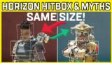 Apex Legends Horizon Hitbox Test & Hitbox Myths Busted! – Apex Legends News In a Minute #shorts