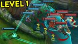 CRAZIEST LEVEL 1 MOMENTS IN LEAGUE OF LEGENDS #3