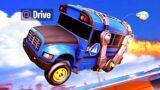 DRIVE THE BATTLE BUS!! (Fortnite x Rocket League)