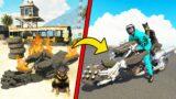 FIXING DESTROYED FUTURISTIC BILLIONAIRE SUPERBIKES WITH CHOP & BOB in GTA 5! (GTA V #27)
