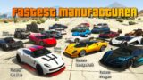 GTA V Which is the fastest GTA Vehicle manufacturer | All 59 Vehicle Brands