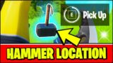HAMMER Location & MEANING (Pick Up) – Fortnite THOR'S HAMMER Season 4 Location