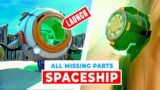 How to Launch Spaceship with all Missing Parts (Fortnite Spaceship Challenge)