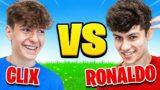 I Paid Fortnite Pros $50,000 to 1v1 Challenge (Clix vs Ronaldo)