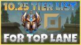 Top Lane Tier List for Patch 10.25 – League of Legends
