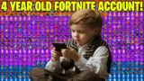 4 Year Old Gave Me His FORTNITE ACCOUNT!