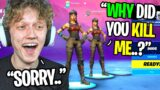 I killed a RENEGADE RAIDER then added him in Fortnite… (he confronted me)