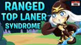 Ranged Top Laner Syndrome in League of Legends