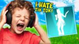 Trolling ANGRY NOOB With *NEW* TikTok Emote (Fortnite)
