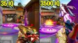 VALORANT: 35 IQ VS 3500 IQ Players!