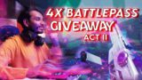 Valorant GIVEAWAY | 4 x Battle Pass Giveaway | Valorant Live India [ !giveaway]