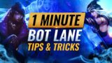 3 USEFUL TIPS & TRICKS For Bot Lane in 1 Minute – League of Legends #Shorts