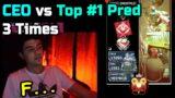 CEO vs Top #1 Predator 3 Times