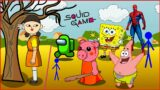 SQUID GAME VS AMONG US, SPONGBOOB, SPIDER MAN, PATRICK, PIGGY,STICKMAN #1 || JA